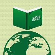 ecological book design - stock illustration