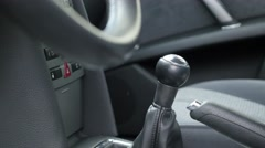 Modern car interiour  with lot of details in leather 4K Stock Footage
