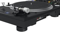Backside panel dj table mixer, ports, controllers, close view Stock Illustration