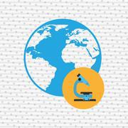 Earth sciences design Stock Illustration