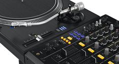 Black dj mixer, close view Stock Illustration