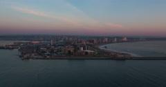 Good morning Durban sunrise time-lapse. - stock footage