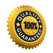 Quality Guaranteed Label - stock illustration