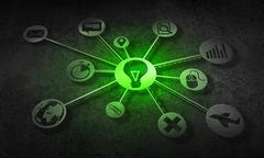 Social media communication Stock Illustration