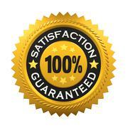 Satisfaction Guaranteed Label - stock illustration