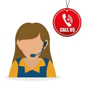 Call center design. customer service icon. Isolated illustration , vector Stock Illustration