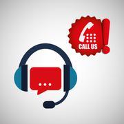 Call center design. customer service icon. Isolated illustration , vector Stock Illustration