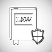Law concept. Justice icon. Colorful icon, editable vector - stock illustration