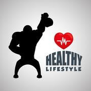 Healthy lifestyle design. Bodycare icon. Isolated illustration, vector graphic - stock illustration