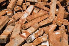 Construction scrap pile Stock Photos