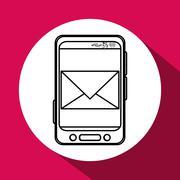 Smartphone design. Media icon. Flat illustration, vector graphic - stock illustration