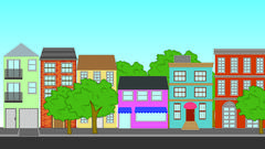 Residential buildings Stock Illustration