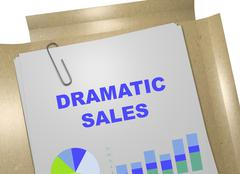 Dramatic Sales business concept - stock illustration