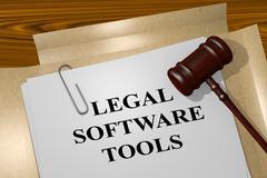 Legal Software Tools legal concept Stock Illustration