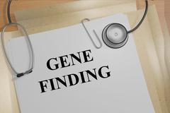 Gene Finding medical research concept Stock Illustration