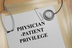 Physician-Patient Privilege medical concept Stock Illustration
