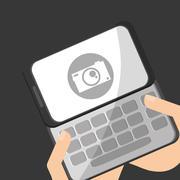 Smartphone design. Media icon. Flat illustration, vector graphic Stock Illustration