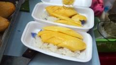 Mango Sticky Rice - stock footage