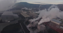Geothermal power station Stock Footage