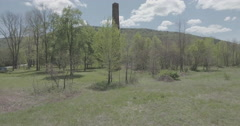 Chimney Smokestack New York State Forward Ascent - stock footage