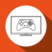 Game design. Technology icon. Isolated illustration , vector - stock illustration