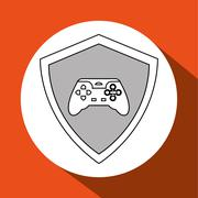 Game design. Technology icon. Isolated illustration , vector Stock Illustration