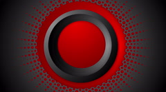 Dark red halftone circles video animation Stock Footage