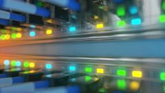 server room loop ready animation 3d rendering - stock footage