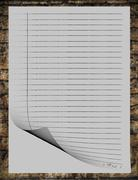 Gray simple stationery old style template with nice background Stock Illustration