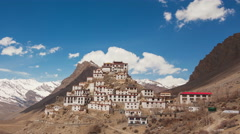 Time Lapse of Key Gompa Monastery Stock Footage