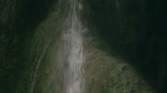 Waterfalls slow motion close up, cave, nature, phenomenon - stock footage