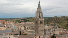 Cathedral of Toledo, Spain Stock Footage