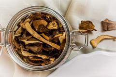 Italian mushroom risotto Stock Photos