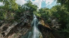 Waterfalls forest landscape Stock Footage