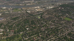Greenwich South London Aerial Stock Footage