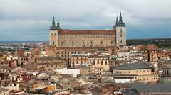 Alcazar of Toledo, Spain Stock Footage