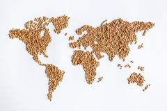 Grain continent Stock Photos
