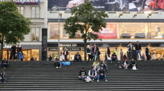 Time Lapse - People at Sergel's Square - Stockholm Sweden - stock footage
