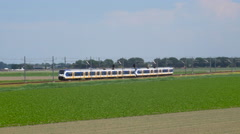 Commuter train of the Dutch Railways NS Stock Footage