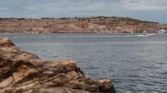 Maltese coast near Bugibba in Malta - smooth follow focus Stock Footage