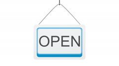 Open-Closed Sign Stock Footage