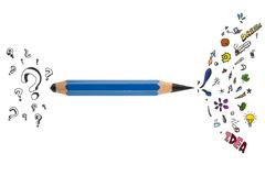 Sharp pencil with creative design Stock Illustration