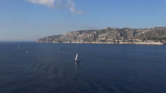French riviera sea coast line Stock Footage