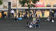 Time Lapse - People at Sergel's Square - Stockholm Sweden Stock Footage