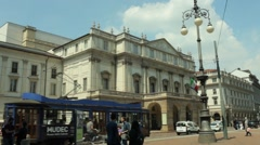 Scala Theater, Milan Stock Footage