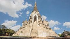 Pagoda Wat Phra Si Sanphet Stock Footage
