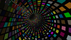 Colorful squares tunnel - stock footage