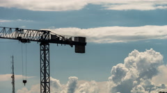 Crane silhouette. 4K timelapse video - stock footage