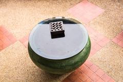 ashtray on table - stock photo