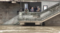 Paris,  flood for of Seine,  In June 3rd, 2016, Subway RER C Saint-Michel N°2 Stock Footage